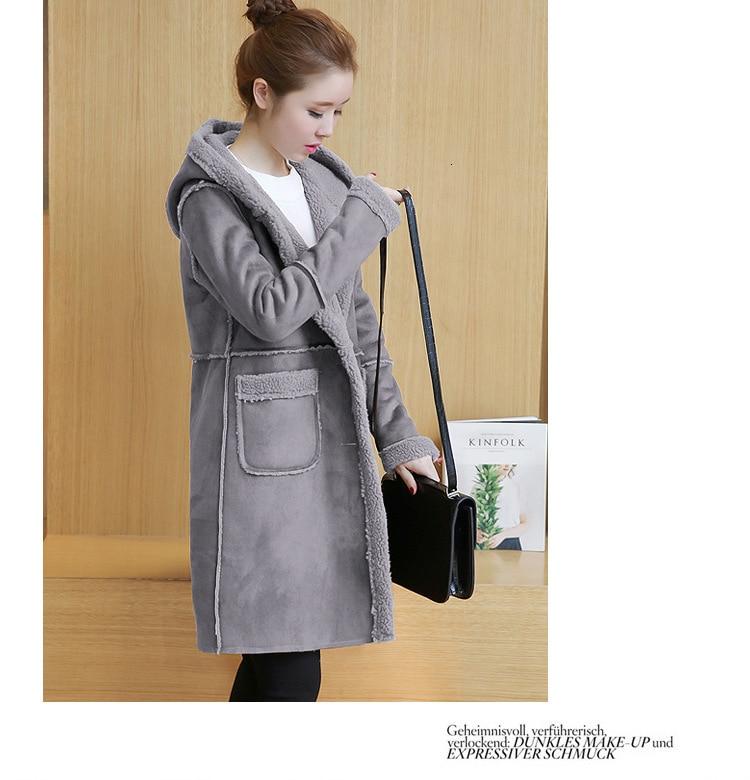 camurça casaco longo feminino coreano solto faux