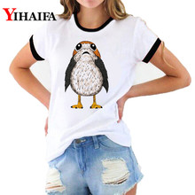 Women 3D Print T Shirts Funny Owl Graphic Tees Fashion Female T-shirt Summer White Casual Couple Short Sleeve Tops