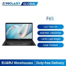 Teclast F6S 13.3 ''1.28Kg 1920x1080 FHD IPS hafif dizüstü bilgisayar Intel Apollo göl Windows 10 dizüstü 8GB LPDDR4 128GB SSD