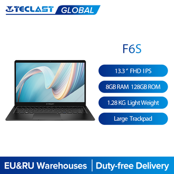 Teclast F6S 13.3'' 1.28 Kg 1920x1080 FHD IPS Light Laptop Intel Apollo Lake Windows 10 Notebook 8GB LPDDR4 128GB SSD