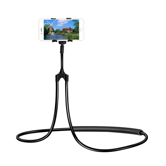 Support de support pliable de bâti Flexible portatif universel de support de téléphone Portable de cou de bras Long