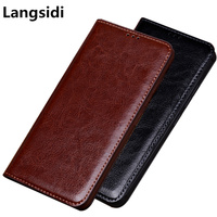 Business retro vintage crazy horse genuine leather cover phone cases for Samsung Galaxy S9 Plus/Samsung Galaxy S9 phone bag case