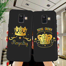 king queen luxury For Samsung Galaxy A9 A8 A7 A6 A5 A3 J3 J4 J5 J6 J8 Plus 2017 2018 M30 A40S A10 A20E phone Case Cover funda(China)
