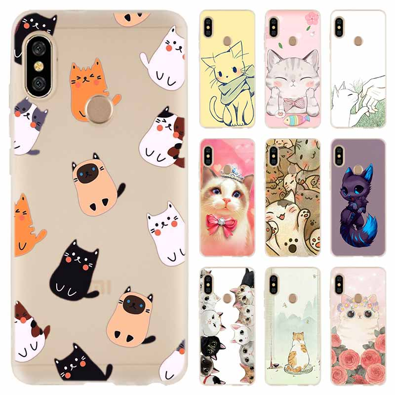 Case For Xiaomi Redmi Note 8 7 6 5 Pro Cover Redmi 7A 6A S2 5A 5 Plus 4A 4X K20 Pro Cute GINGER PIZZA Bowknot Cat