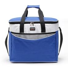Открытый Кемпинг барбекю Пикник Ланч сумка 34л открытый изолированный мешок Ланч-бокс Tote Bento сумка для еды Термосумка-холодильник