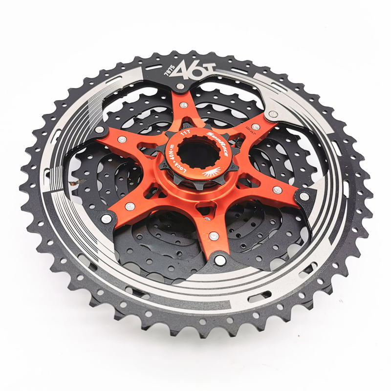 SunRace MS3/MX3 10 Speed 11-46T Mountain Bike Free Wheel Cassette Wide Ratio MTB Bicycle Freewheel image