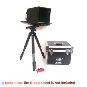 Image 5 - Телеprompter 10 10 дюймовый для iPad планшета, для наружного интервью, речи, DSLR камеры, Prompter Reader