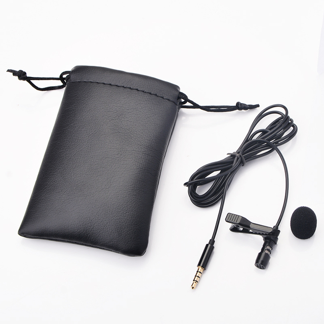 OLLIVAN Pro Audio Microphones 3.5mm Jack Plug Clip-on Lavalier Mic Stereo Record Mini Wired External Microphone for Phone 1.5M