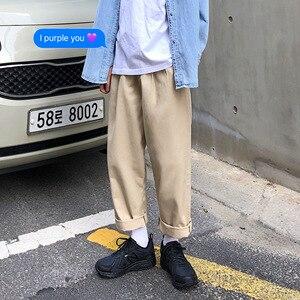 Image 4 - 2020 hommes Simple loisirs hommes coton Harem pantalon ample mode tendance noir couleur pantalons hommes décontractés pantalon grande taille M XL