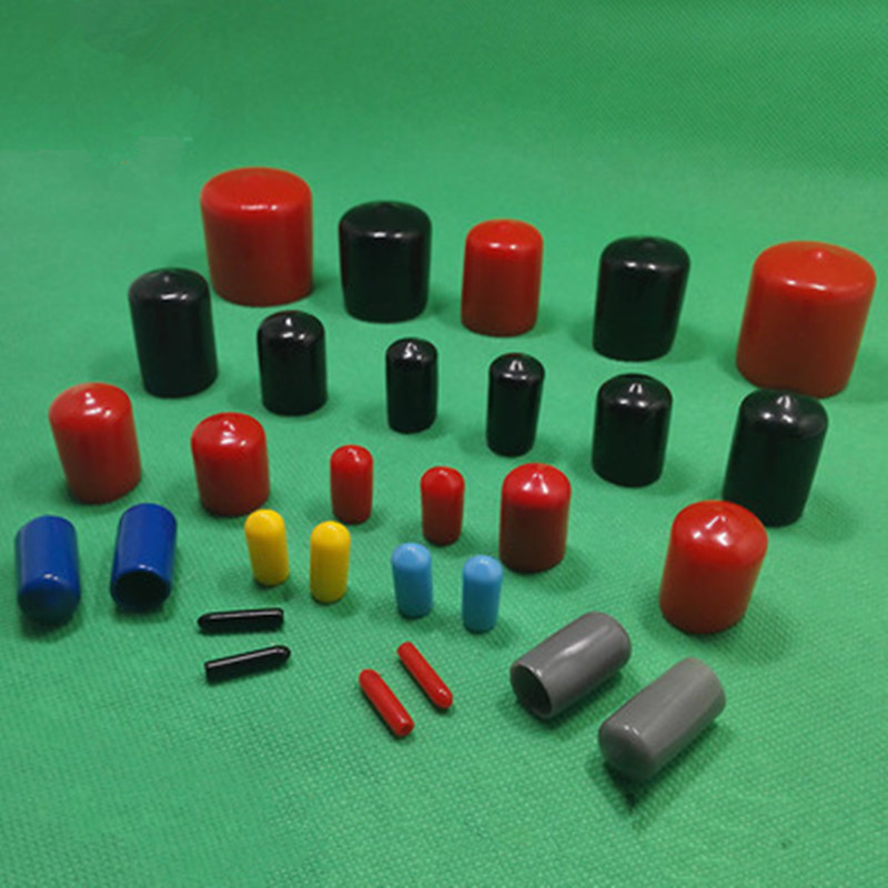 2mm To 30mm End Cap PVC Plastic Cable Wire Thread Cover Vinyl End Cap PVC Rubber Steel Pole Tube Pipe Protecting Water