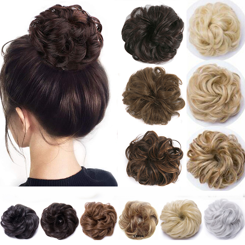 Вьющиеся волосы 1 шт. надписью «Messy Hair пучок волос для наращивания, синтетические шиньон парик, заколки, заколки для волос, трессы, заколки, ле...