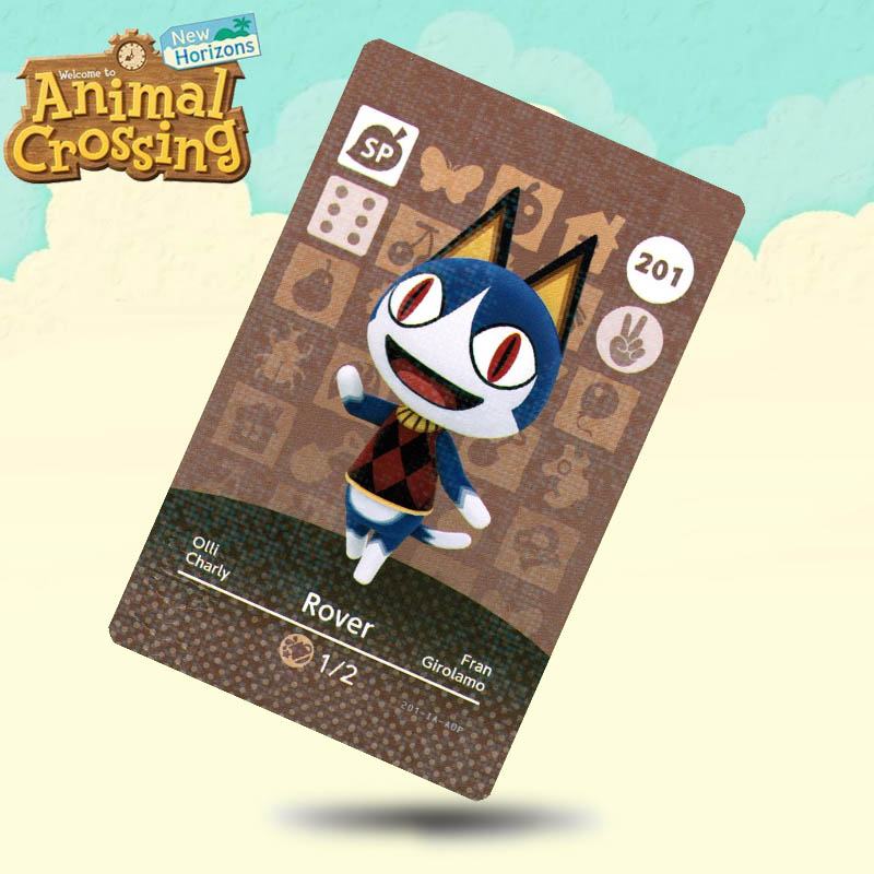 201 Rover Animal Crossing Card Amiibo Cards Work For Switch NS 3DS Games