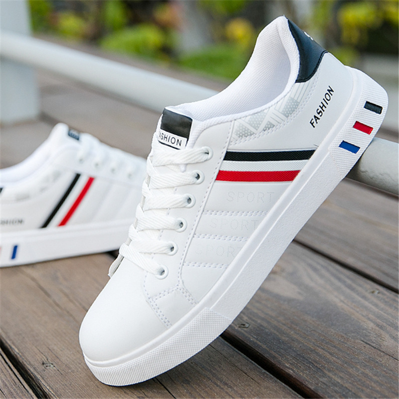 New 2020 Men Casual Shoes Men Leather Flat Shoes Lace-up Low Top Sneakers Breathable Male Shoes Fashion Sneskers Tenis Masculino
