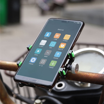 """Aluminum Alloy Bike Bicycle Phone Holder Motorcycle Handlebar Mount Bracket for 3.5-6.2"""" Smart Phone for iPhone Xs Max Xr X"""