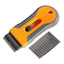 EHDIS Window Tint Ceramic Glass Oven Clean Razor Scraper+10pcs Razor Blade Cleaning Tool Sticker Remover Vinyl Car Wrap Squeegee