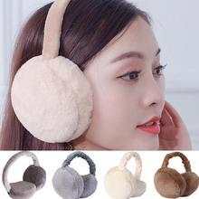 Earmuff Warmer Headband Ear-Protector Earlap Winter Women Faux-Fur Foldable Small-Size