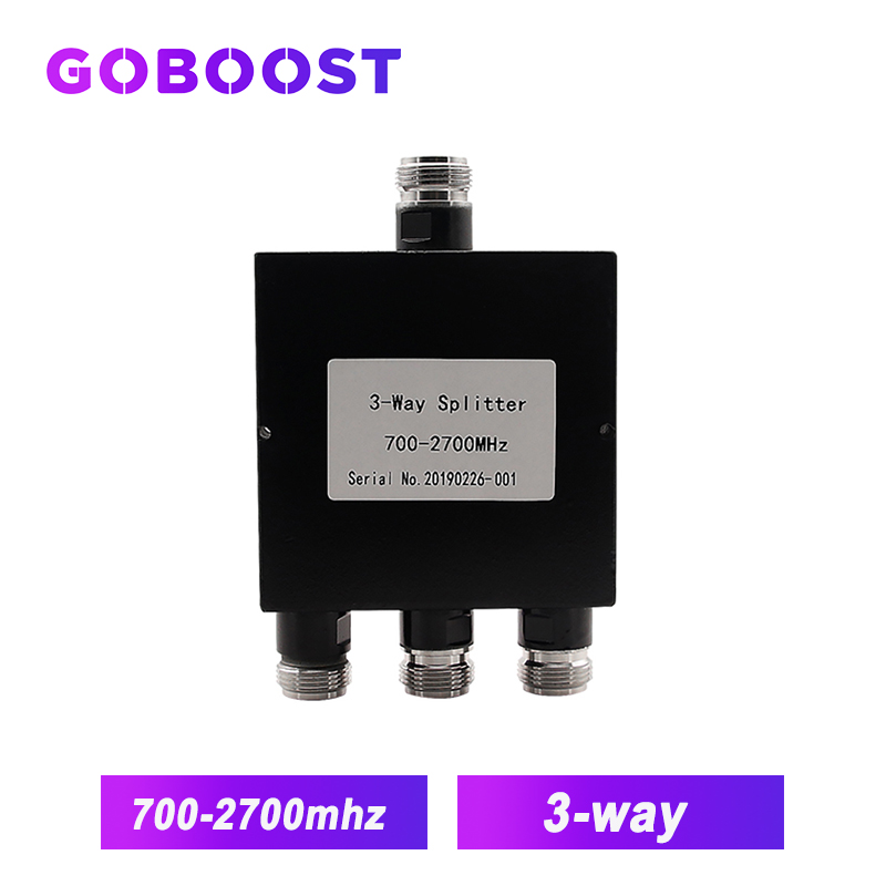 700MHz~2700MHz N-Female 3-way Power Splitter Signal Repeater 3 Ways Splitter For Connect 3G 4G Internet Mobile Signal Booster /