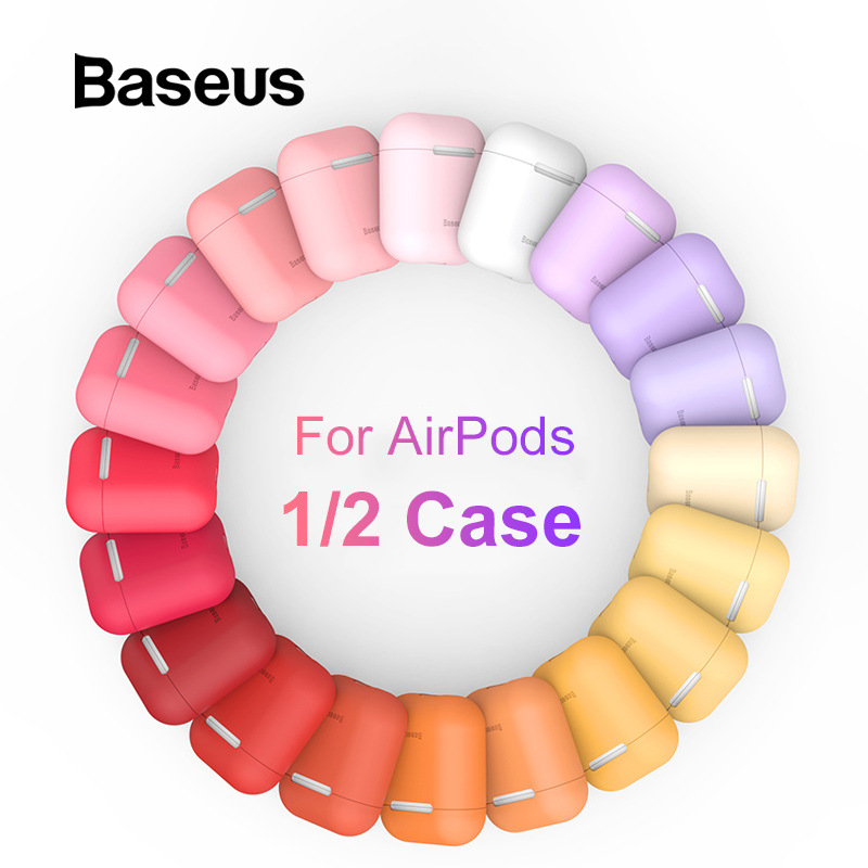 Baseus Ultra Thin Case For AirPods Case Earphone Cover Universal Silicone Protective Box For Air Pods 1 2 Case Cover Accessories