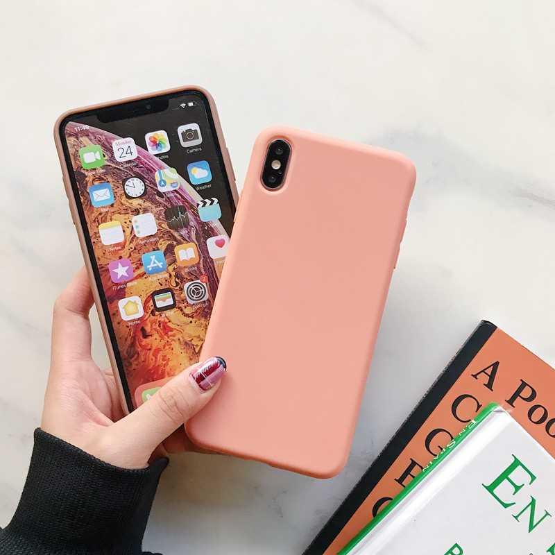 高級ソフトカラーの携帯電話ケース iphone 7 8 6 6 s プラス se 2020 裏表紙 coque iphone x xs 11 プロマックス xr 小箱