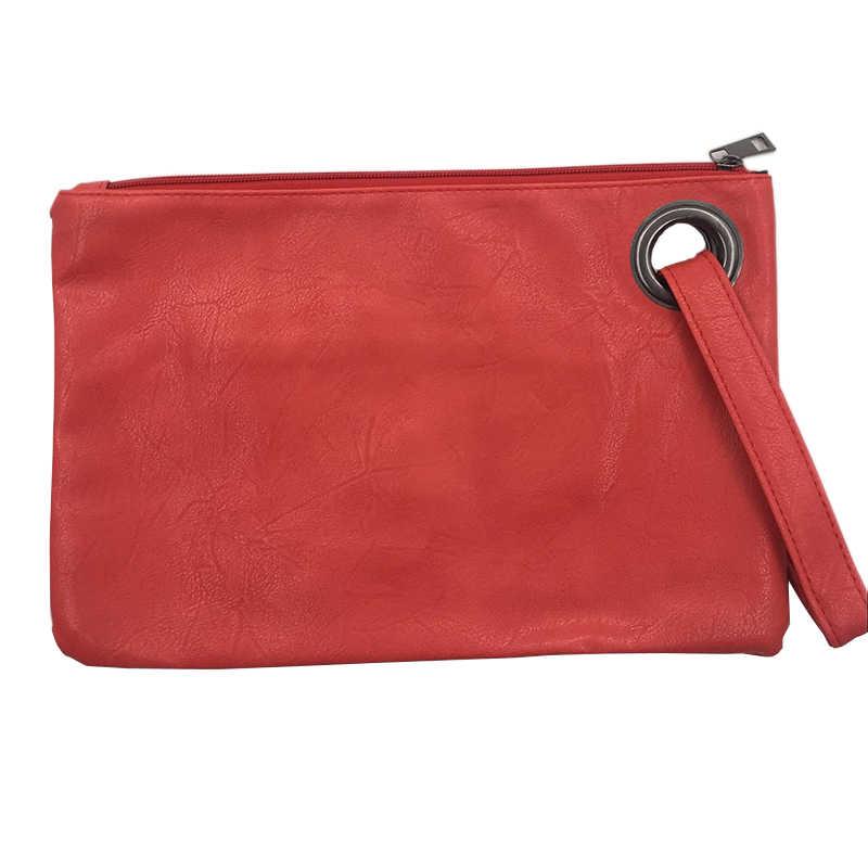 Mode solide femmes pochette en cuir femmes enveloppe sac pochette sac de soirée femme embrayages sac à main immédiatement expédition