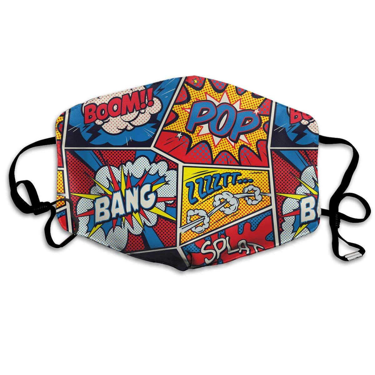 Retro Pop Art Comic Shout Washable Reusable   Mask, Cotton Anti Dust Half Face Mouth Mask For Kids Teens Men Women With