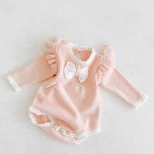Korean-Style Jumpsuit Romper Knitting Toddler Baby-Girl Infant Princess Lovely