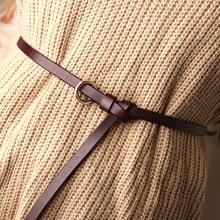 115см Feine Grtel Runde Schnalle Hosen Pullover Kleid Dekoration Dnnen Grtel Leder Bund Einfarbig Schlank Grtel ремни