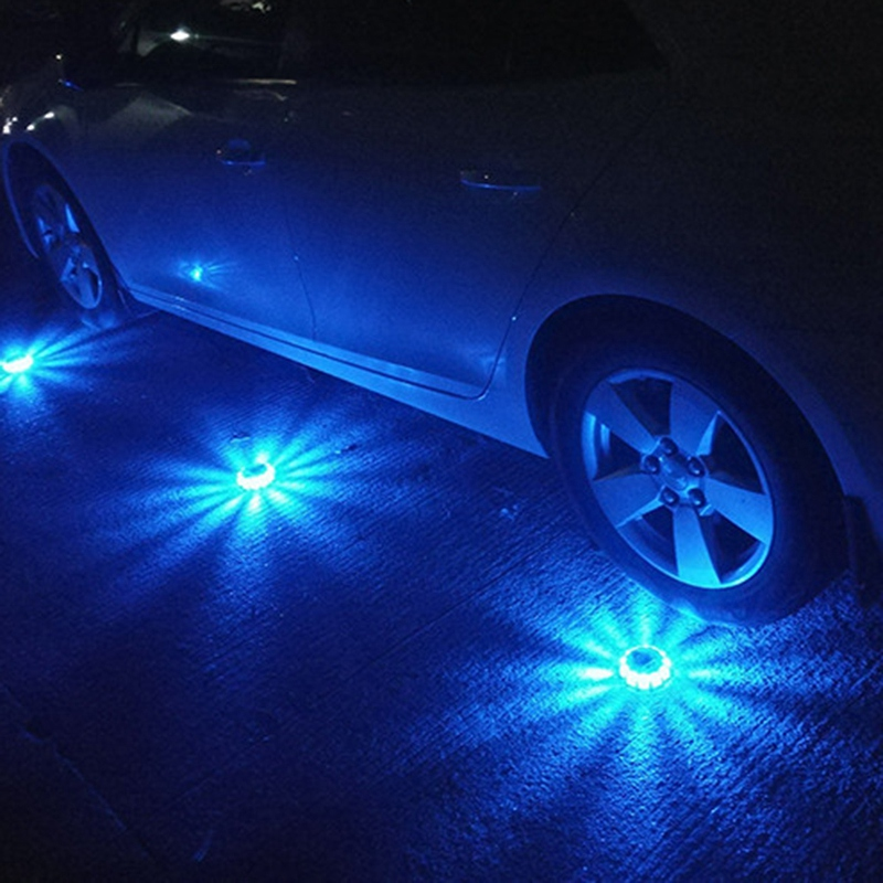 Super Bright Auto 15 Led Round Beacon Emergency Strobe Flashing Warning Lights Round Car Roof Police Lightbar Road Light