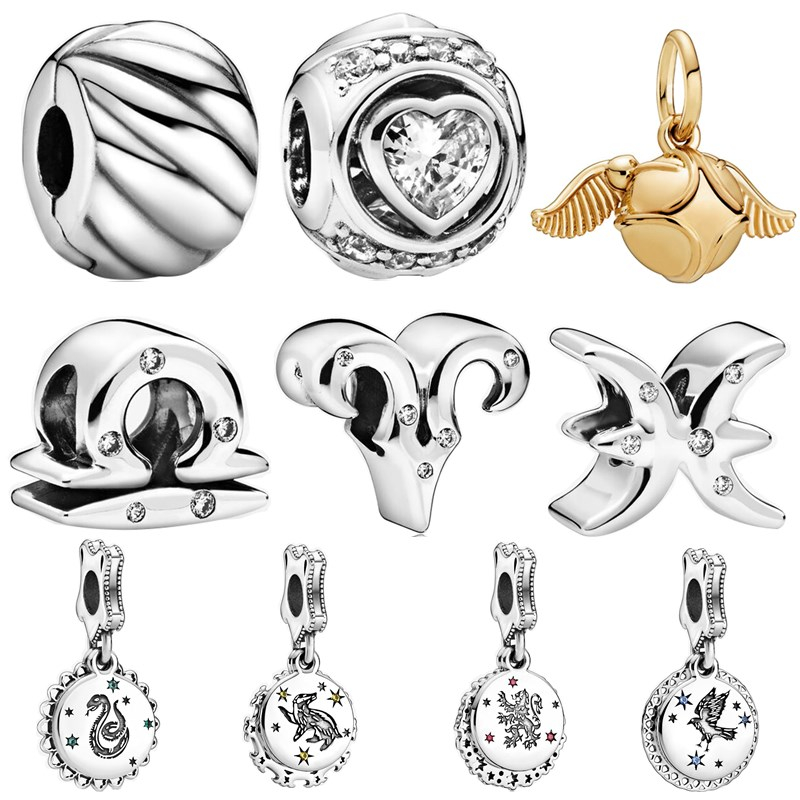 925 Silver New Original Harry Charms 12 Chinese Zodiac Beads Pendant Fit Pandora Bracelets For Women DIY Lovers Jeweley