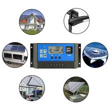 WINOMO Solar Charge Controller Generator Solar Panel Battery Intelligent Regulator With USB Ports Backlight Display For Home