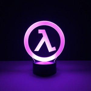 Image 3 - Dziecko Led nightlight Half Life Logo lampka nocna dla chłopców sypialnia oświetlenie dekoracyjne dla dzieci najlepszy prezent urodzinowy Led lampka nocna Dropship