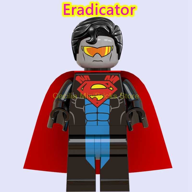 Cyborg Superman Lex Luthor Jor-el Batman Iron Man Spiderman Thanos Thor Mainan untuk Anak Bata DC Blok Bangunan marvel