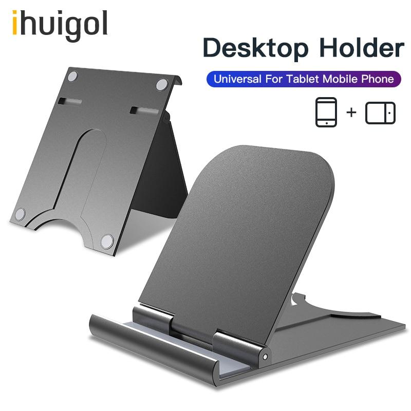 Ihuigol Desktop Holder Universal For IPhone 11 Pro 8 X 180 Degree Adjustable Mobile Phone Holder Stand For Ipad Tablet Bracket