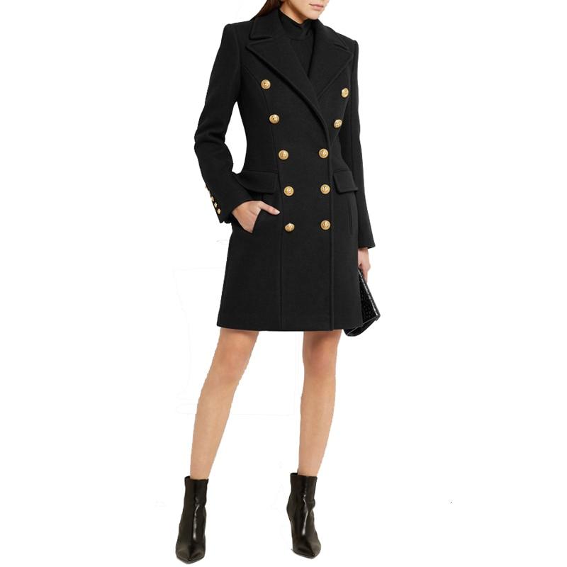 Roupas de Inverno Cabolsa de lã Cabolsa de Inverno 2020 do Vintage Mulheres Elegante Outwear Moda Cabolsa Longo Novidades Mais ol