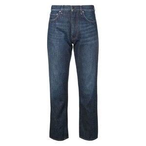 Image 2 - Jeans delle donne Asimmetrico Cut Vintage Etero Nove punti dei jeans donna Jeans Pantaloni