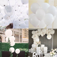 White Balloons 100pcs 10inch 1.5g Gold Black Silver Latex Pear Ballons Wedding Birthday Baby Shower Party Decor Kids Toy Globos