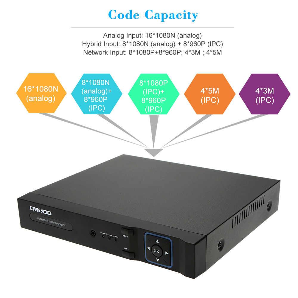 Owsoo 1080N ahd dvr 16CH + 2 テラバイトシーゲイト hdd onvif 電話制御 cctv dvr レコーダー 16CH cctv セキュリティカメラ監視システム
