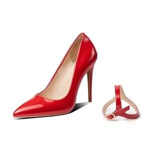 Image 2 - BLXQPYT seksi iki yolu giymek büyük 33 50 yüksek kaliteli kadın pompaları sivri burun ince yüksek Heels12cm düğün parti ayakkabıları YM 20