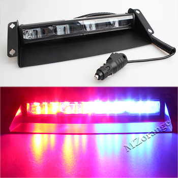 цена на 12 leds 12V-24V Car Police Strobe Truck Flash Light RedBlue Dash Emergency Flashing Light Warning Lamp 36W Car light