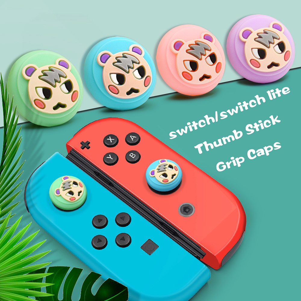 Зелен Nintendo Switch Joy Con Animal Crossings Thumb Grips Caps - Игри и аксесоари - Снимка 5