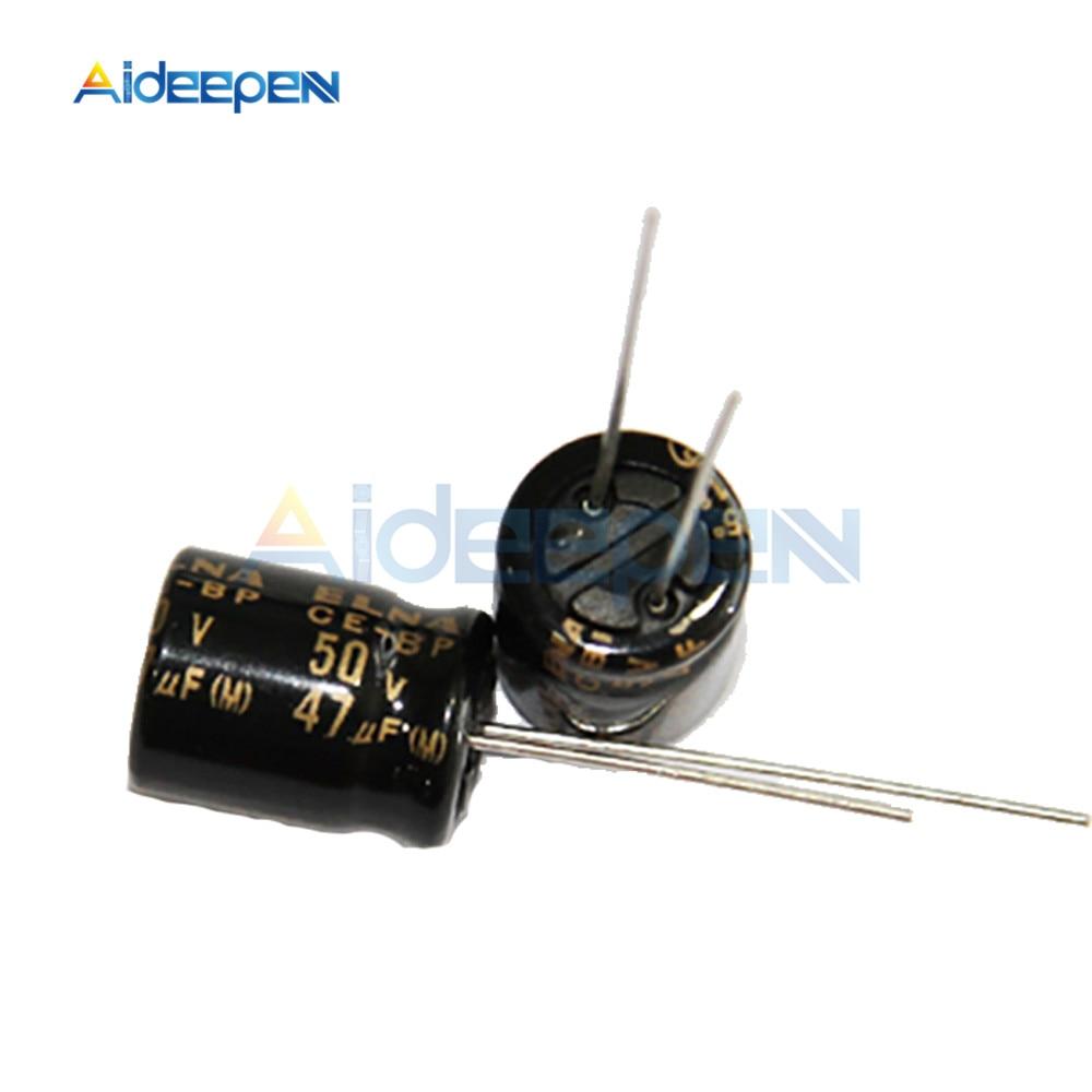 3PCS Elna Capacitors RBD 3.3uf 50V Audio Series Bi Polar Capacitors