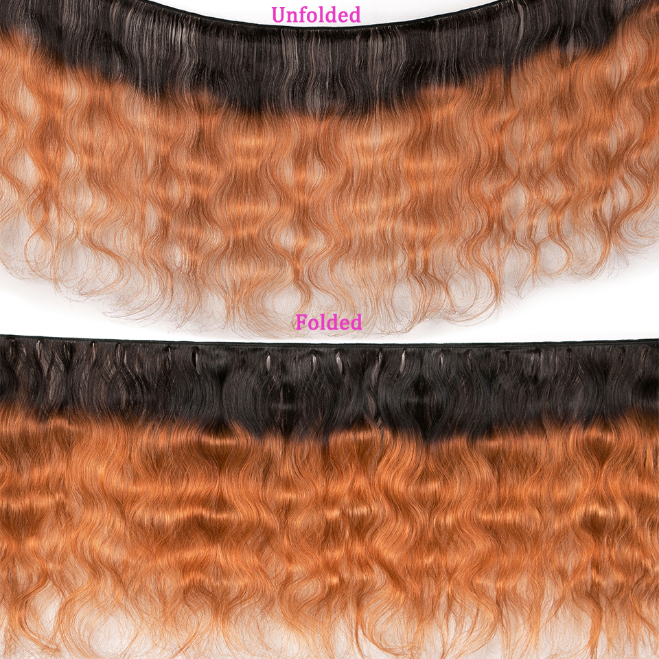"""Image 2 - Ombre Body Wave Human Hair Bundles With Closure 4pcs/lot Brazilian Hair Weave Bundles With Closure Remy Hair Extension 8"""" 26""""-in 3/4 Bundles with Closure from Hair Extensions & Wigs"""