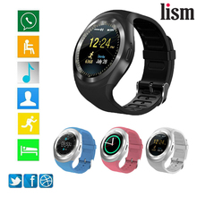 Bluetooth Y1 Smart Watch Relogio Android SmartWatch Band Phone Call GSM Sim Remote Camera Information Display Sports Pedometer s18 gsm watch phone w 1 5 screen quad band bluetooth and fm black