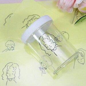 Image 2 - 100 Uds pegatinas de etiquetas transparentes personalizadas de 30mm, Pegatinas transparentes con nombre personalizado, pegatinas de boda, logotipos, adhesivos para pestañas