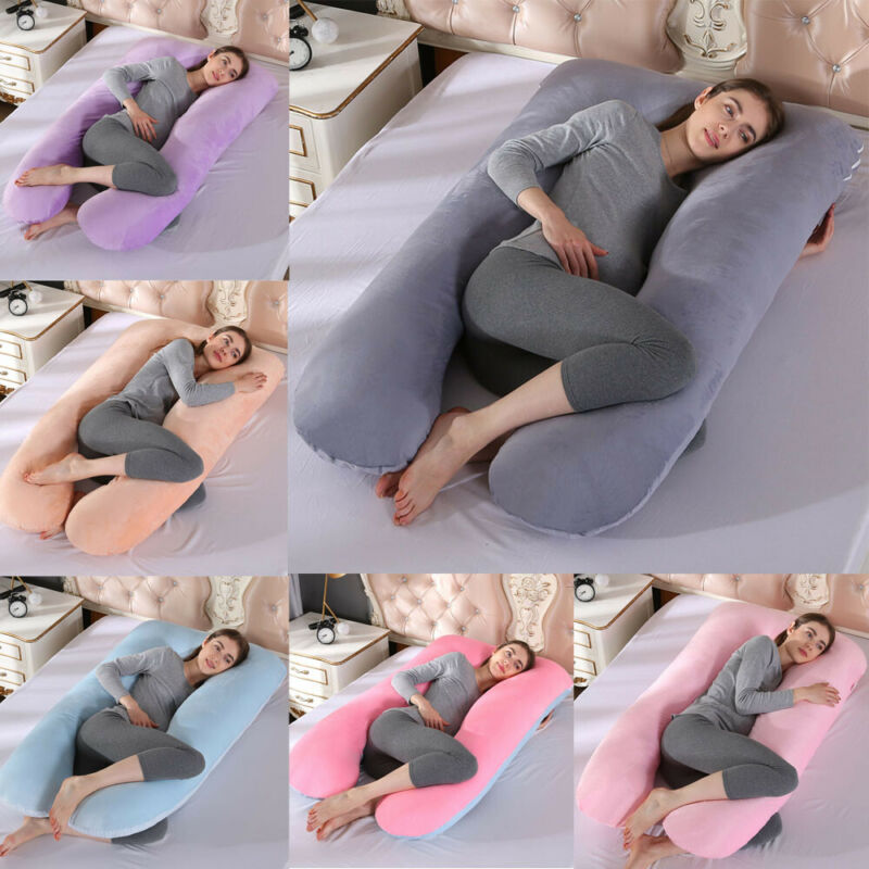 High Quality Multi-functional BIG Comfort Removable U Pillow Soft Cotton Full Body Maternity Pregnancy Support Maternity Pillow