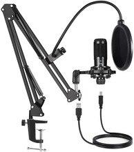Microphone de jeu à condensateur USB avec support, nouveau kit de Microphone de Studio bm 800 pour ordinateur, diffusion Youtube, enregistrement