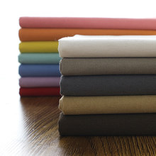 Cor sólida tela da lona engrossado cortina de pano grosso diy artesanal toalha de mesa brocado costura sofá capa tecido algodão linho