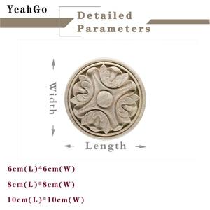 Image 3 - YeahGo, meubles en bois style européen, décoration murale pour la maison, décalcomanies de sculpture sur bois et accessoires dapplication sur bois