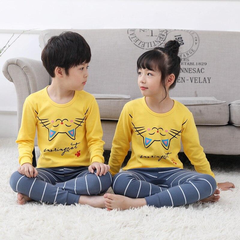 New Autumn Children   Pajamas   Girls Unicorn Pyjamas Baby Cotton Pijama Infantil Kids Boys Sleepwear Nightwear Child Clothing   Sets