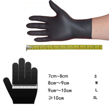 20PCS Black Disposable Gloves Latex Dishwashing/Kitchen/Medical /Work/Rubber/Garden Gloves Universal For Left And Right Hand 5